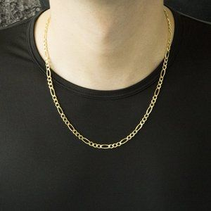 4mm 18K Gold Fiagro Chain 14-30in